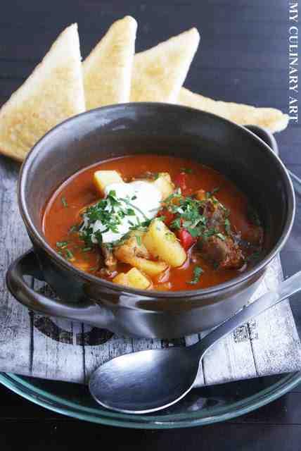 My Culinary Art: Gulyásleves - węgierska zupa gulaszowa