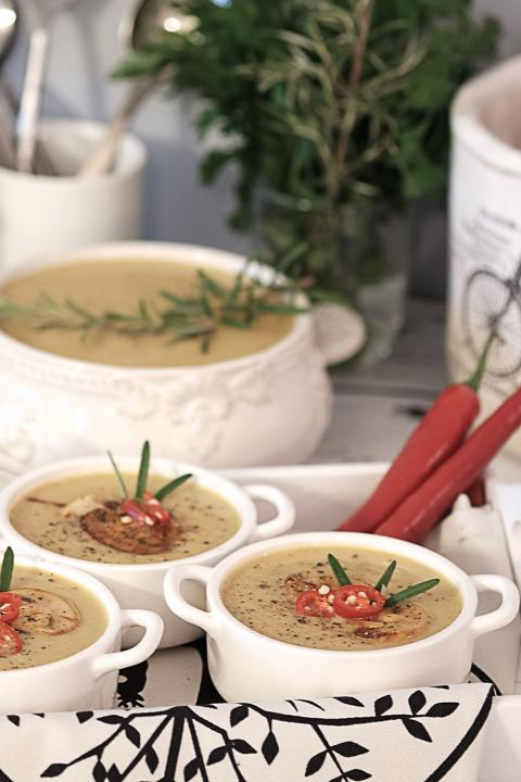 Zupa - Krem z Pieczarek - Przekąski na Imprezę